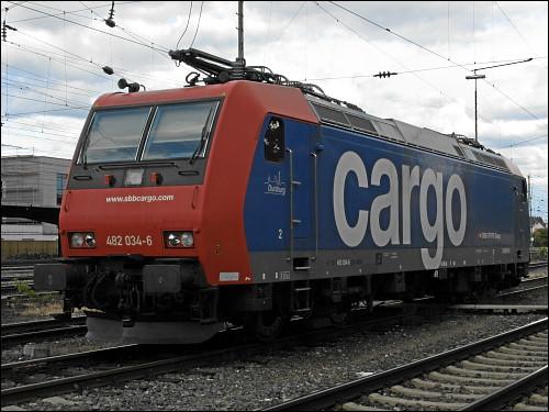 BR 482 von SBB Cargo mit Kennzeichnung »Duisburg«