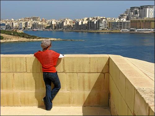 Blick von Valletta nach Sliema