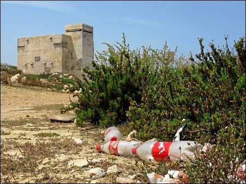 Müll in der Landschaft