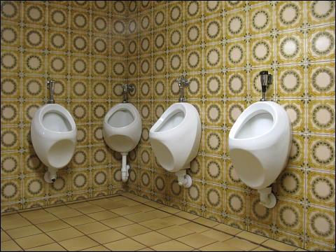 Urinale im Gasthaus zum Ludwigskanal bei Burgthann-Schwarzenbach