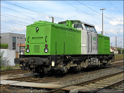 Lok V 100.04 der Salzburger Eisenbahn TransportLogistik GmbH (SETG)