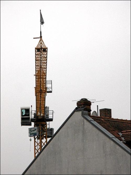 Baukran in der Fürther Winklerstraße