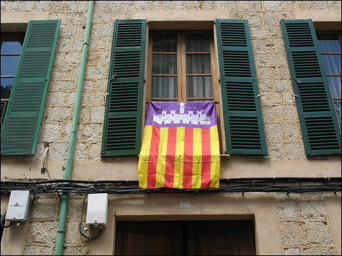 Flagge vom Mallorca