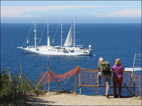 »Wind Spirit« oder »Wind Star« im Einsatz vor Port de Sóller