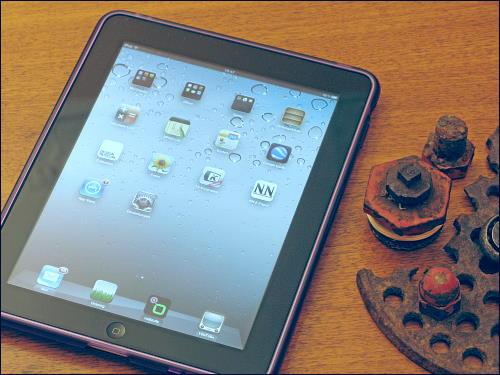 Das neue alte iPad 1 auf dem Wohnzimmertisch
