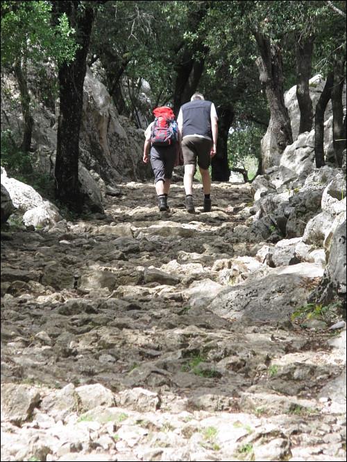 bergiger Wanderweg beim Santuari de Lluc