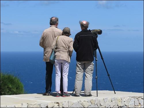 Vogelkundler am Cap Formentor