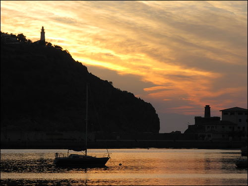 Sonnenuntergang in Port de Sóller