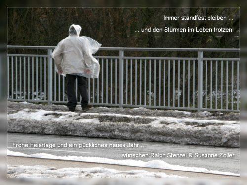 Weihnachtsgruß 2016 - Immer standfest bleiben...