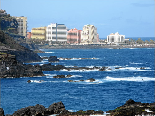 Blick zurück auf Puerto de la Cruz