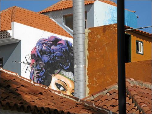 Fassadenkunst in Puerto de la Cruz