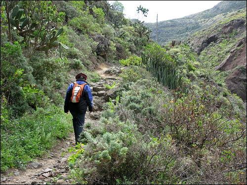 Auf dem Weg zum Roque Bermejo