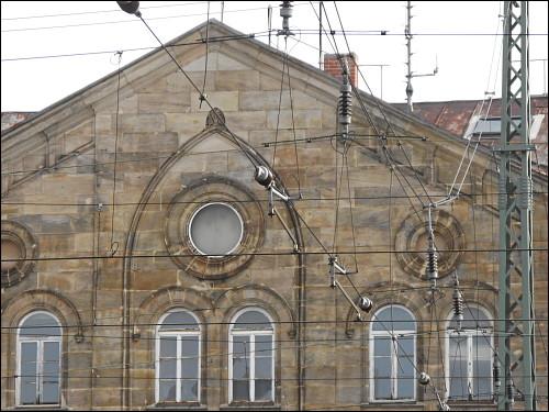 ausgeweidete Bahnhofsuhr in Fürth (Bay) Hbf