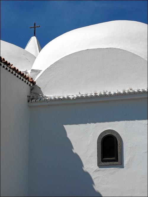Detailansicht der Kirche von Santiago del Teide