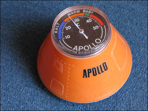 Badethermometer in Form einer Apollo-Kapsel