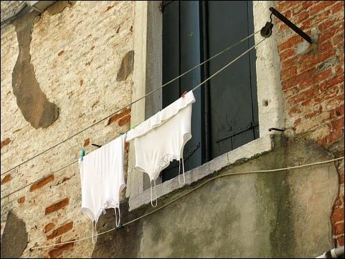 trocknende Unterwäsche