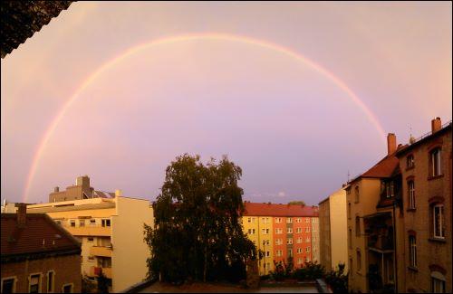 Regenbogen über Fürth