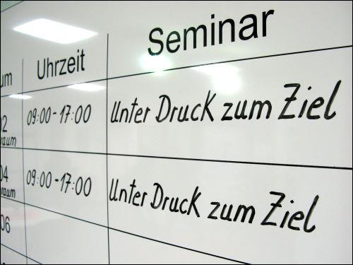 Belegungstafel im TZ Nürnberg von DB Training