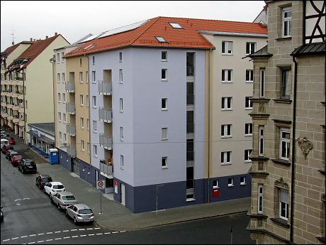 Grundstück Ecke Amalienstraße/Karlstraße (ehemals 'Fürther Trottoir-Reinigungs-Institut')