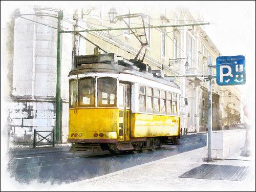 Lissabons schöne Straßenbahnen