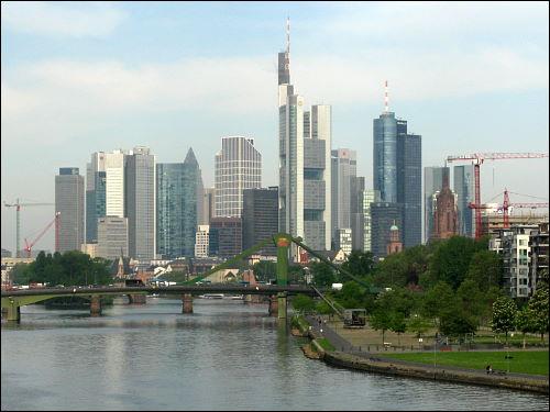 Skyline der großen Stadt