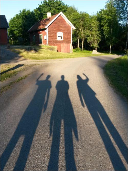 Drei Freunde, drei Schatten