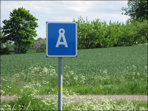Ortschild von Å