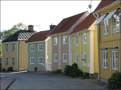 Holzhäuser in Söderköping