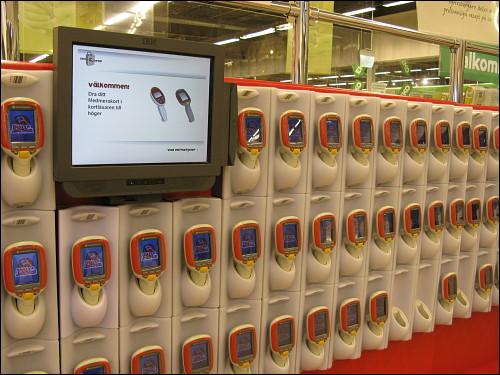 Batterie von Scannerpistolen