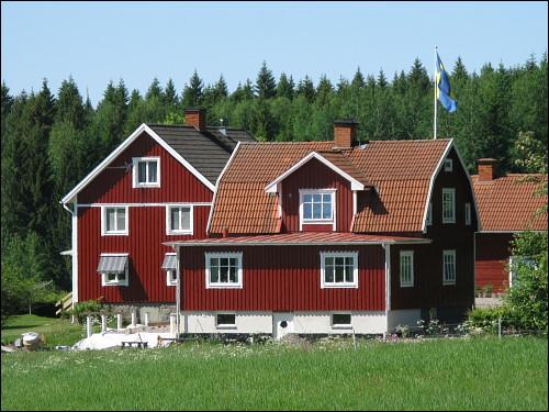 typisches Schwedenhaus der größeren Sorte