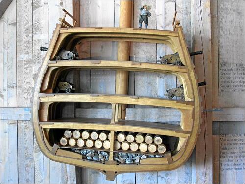 Querschnitt durch die »Vasa« (Modell)