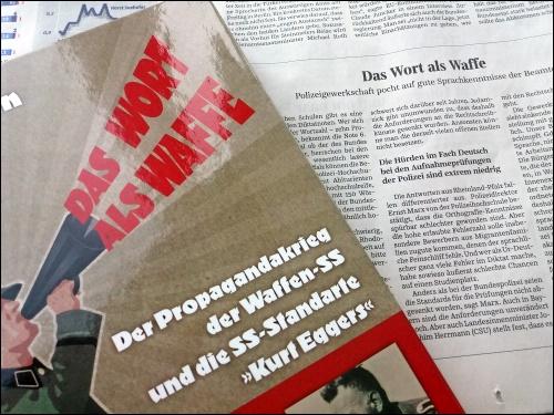 Buchtitel neben gleichlautender SZ-Artikelüberschrift