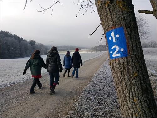 Die erste Runde in 2017, gedreht mit Freundinnen um Kirchröttenbach herum