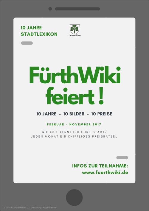 Poster für FürthWiki e. V.