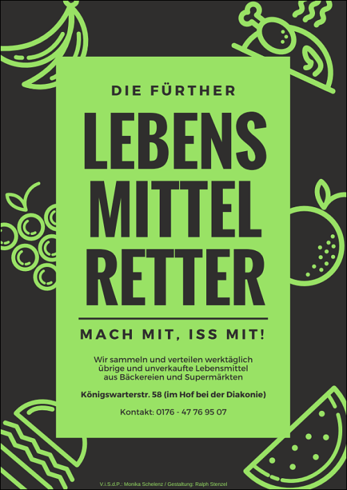 Poster für die Fürther Lebensmittelretter
