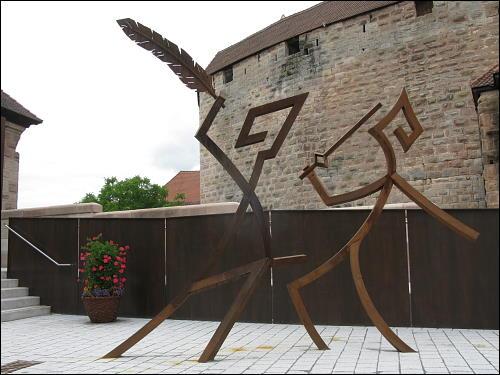 moderne Kunst am alten Bau