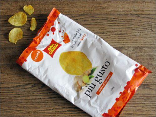 weitgehend leergefutterte Chipstüte
