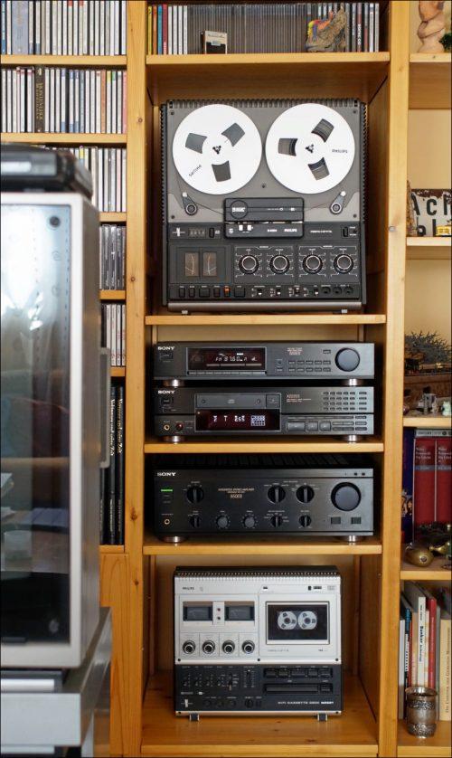 Qualität kennt kein Alter: der wiederbelebte CD-Player inmitten seines Habitats