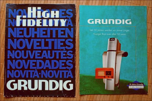GRUNDIG Poster und Jubiläumsschrift