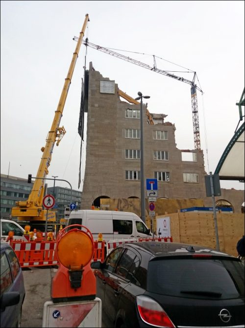 Abriß der Nürnberger Hauptpost