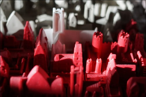 Brettspiel »Cathedral« im Abendlicht