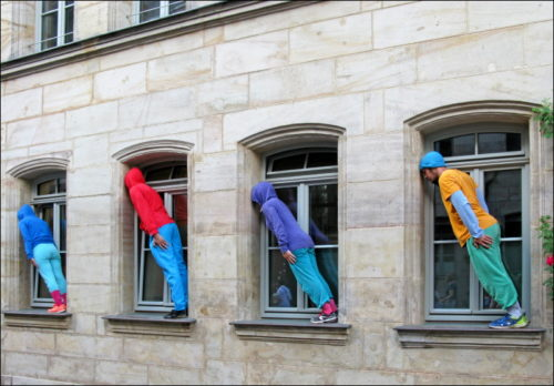 Kunstaktion »bodies in urban spaces«