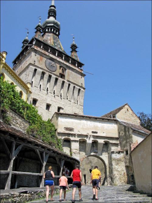 Stundturm mit vorgelagerter Torburg in Sighișoara (Schäßburg)