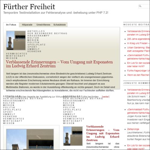"""Aus den Fugen: Die """"Fürther Freiheit"""" unter PHP 7.2"""