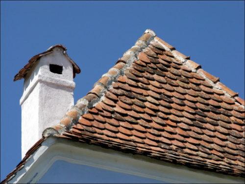 Dach-Detail in Deutsch-Weißkirch