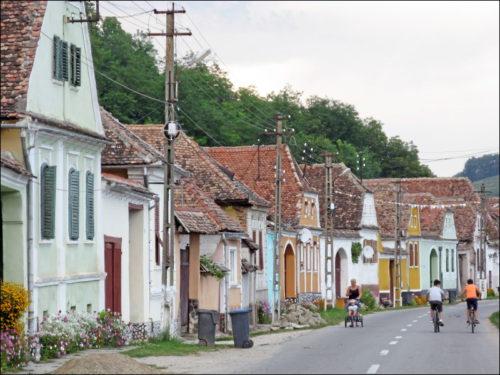 Hauptstraße von Richiș (Reichesdorf)