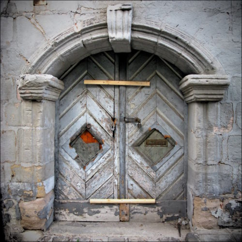 Eine Fürther Tür, durch die niemand mehr geht...