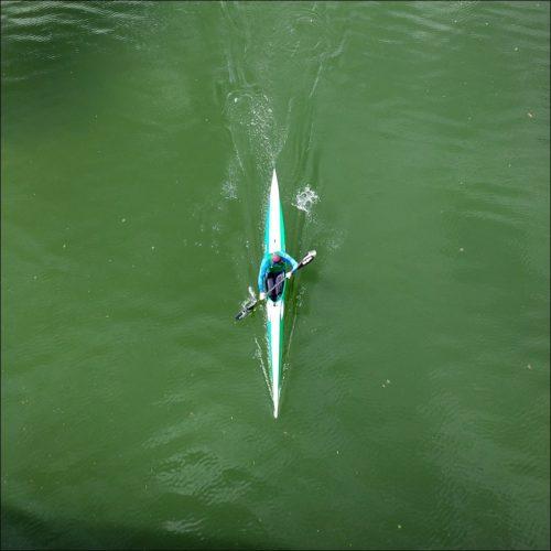 Paddler auf dem Main-Donau-Kanal
